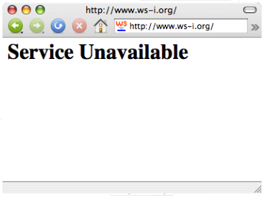 WS-I.org: Service Unavailable