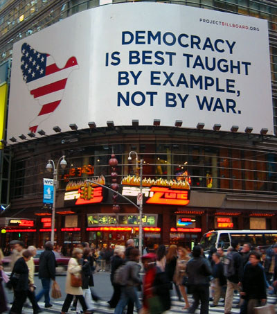Democracy is best taught by example, not by war