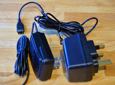 US and UK Gameboy power adaptors