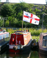 Flag Canal Boat